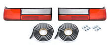 1987-1993 Ford Mustang LX Tail Light Taillights Lenses w/ Clips & Sealer (Pair)