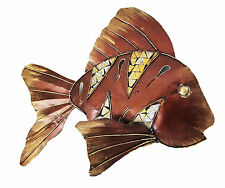 "Three-dimensional steel WALL SCULPTURE decoration/art FISH, 19"" long, 15"" high"