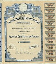 France Building Construction Real Estate Group stock certificate 1909