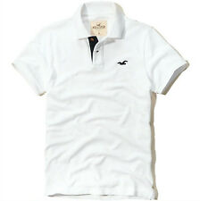 NEW HOLLISTER MENS GUYS CLASSIC FIT PIQUE COTTON POLO T SHIRT TOP BLOUSE TEE L