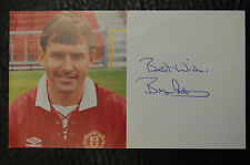 BRYAN ROBSON 1993 SIGNED OFFICIAL MANCHESTER UNITED CLUB CARD