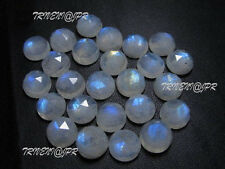 AAA Quality 15 Pc.Natural Rainbow Moonstone 10 mm Round Rose Cut Loose Gemstone