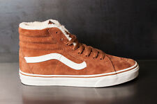 Vans Sk8 Hi (Pig Suede/Fleece) Monk Robe/Blanc Men's Skate Shoes SIZE 8.5
