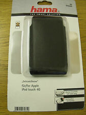 Hama 13284 Black leather Ipod Touch 4g 'DelicateSleeve' Cover Case