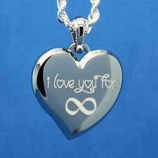 I LOVE YOU TO INFINITY - ENGRAVE A MESSAGE ON BACK PERSONALIZE THIS PENDANT FREE