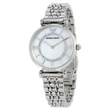 Emporio Armani Classic Mother of Pearl Dial Stainless Steel Ladies Watch AR1908