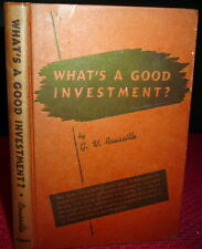 1940 Investment Guide. What's A Good Investment? by G.V. Roussille, Stocks Bonds