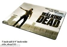 The Walking Dead Gun ! AMC Anti slip  COMPUTER MOUSE PAD 9 X 7inch rick Grimes