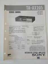 Schema SONY - Service Manual Integrated Stereo Amplifier TA-AX205 TAAX205