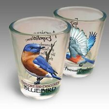 BLUEBIRD--Shot Glass Set by American Expedition--1.5 oz--Gift Boxed