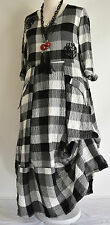 FAB GERMAN ZEDD.PLUS quirky/lagenlook BLACK/WHITE  parachute dress M/L