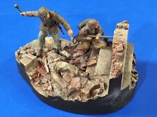 "Verlinden 1/35 ""Burn!"" Waffen-SS with Flamethrower and AT Grenade Vignette 2757"