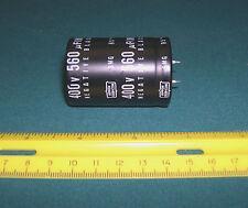 Capacitor, 560 uf/microfarad,  400 v/volt, snap-mount,  Quantity 1