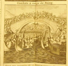 H Chatelain c1720 République de Venise Combats à coup de poing Boxe lotta pugno