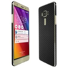 Skinomi Black Carbon Fiber Skin+Screen Protector for Asus ZenFone 3 Deluxe 5.7""