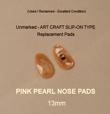 True Antique PEARL  Art Craft Slip-On Type Eyeglass NOSE PADS - 1 Pair