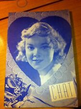Vintage Book CHAT The Voice Of Creative Expression Valentine Heart Design 1938