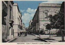 PARTANNA (Trapani) CORSO VITTORIO EMANUELE e PALAZZO MUNICIPALE anni '50/60