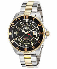 Invicta 17150 Men's Pro Diver GMT Two-Tone Steel Black Dial