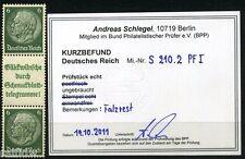Dt. Reich Hindenburg Zusammendruck 1940 Abart S 210.2 PF I Befund (S6500)