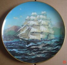 Franklin Porcelain CHALLENGE From THE GREAT CLIPPER SHIPS PLATE COLLECTION