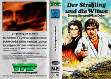 """VHS """" Der Sträfling und die WITWE """" (1971) - Alain Delon - Simone Signoret - VMP"""