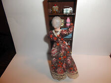 Miniature Doll House Rustic Handcrafted Cabinet With Bath Essentials