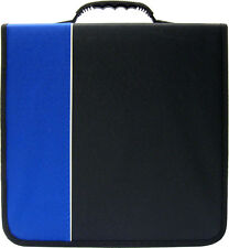(1) CRY-E360BL 360 Disc Capacity Black & Blue CD DVD Binder Storage Media 350