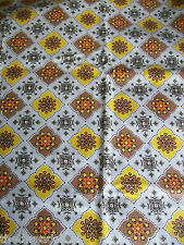BTY Vintage Cotton Fabric 37W Kitchen Decor Curtains Chair Pads Med Wt
