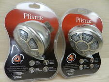 2 REAL METAL 4 Position Shower Heads: Soak Pause Relax Massaging Brushed Nickel