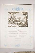 Fables La Fontaine Le Cerf Malade, gravure V 1850 Image Morale Animaux