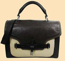 VINCE CAMUTO MAX Block Color Leather Satchel Shoulder Bag Msrp $298.00