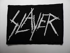 SLAYER  WHITE LOGO  WOVEN PATCH