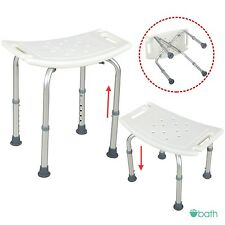 6 Height Adjustable Medical Bath Tub Shower Chair Bench Stool Seat Without Back