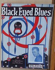 Black Eyed Blues - 1922 sheet music - organist Milton Charles photo on cover