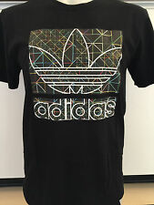 ADIDAS NEON GRID BLACK GRAPHIC TEE T SHIRT MENS SIZE SMALL NWT