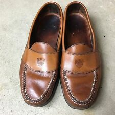 VTG POLO RALPH LAUREN Penny Loafers SHIELD CREST 9 Shoes Made USA Lounge Slides