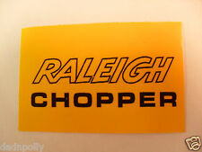 RALEIGH CHOPPER MK 2 SEAT PLATE DECAL - CHOPPER SEAT STICKER
