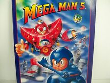 D0503122 MEGA MAN 5 NES 100% WORKING BOX PLASTIC CASE DUST COVER