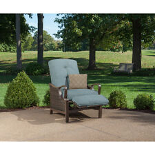 Light Blue Cushion Quality Outdoor Patio Recliner Chair Furniture Home Living