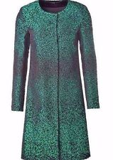 "$3,625 Size 46/14 Silk Blends ESCADA Women's Green Coat ""Crea"", NWT"