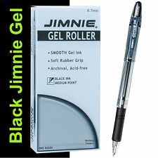 Box of 12, Zebra Jimnie Gel Rollerball Pens 44110, 0.7mm Medium Pt., Black Ink