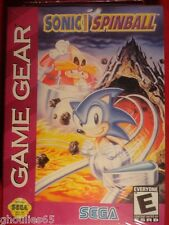 SONIC SPINBALL SEGA GAME GEAR SONIC SPINBALL GAME GEAR NEUF SONIC PINBALL