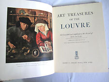 1951 ART TREASURES OF THE LOUVRE RENE HUYGHE COLLECTIBLE BOOK-100 COLOR PLATES