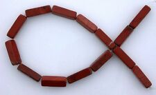 13x4 13mm x 4mm Rectangle Gemstone Gem Stone Red Jasper Beads 7 Inch Strand