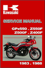 KAWASAKI Workshop Manual GPz550 Z550F & Z500F 1983 1984 1985 1986 1987 1988