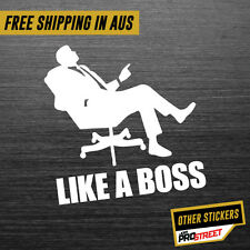 LIKE A BOSS JDM CAR STICKER DECAL Drift Turbo Euro Fast Vinyl #0118