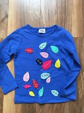 Mini Boden Blue Leaf Tshirt 4-5 Years