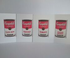 Andy Warhol - ORIGINAL VINTAGE ART - 1989 Lote 4x Campbell's Soup Taschen Print