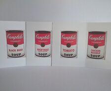 Andy Warhol - ORIGINAL VINTAGE ART - 1989 Lote 4x Campbell's Soup Taschen Print